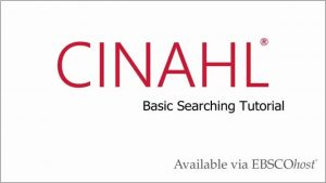 tutorial-cinahl
